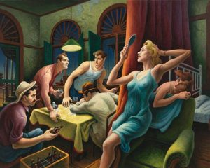 Thomas Hart Benton Poker Night (from A Streetcar Named Desire) 1948 Whitney Museum of American Art NY
