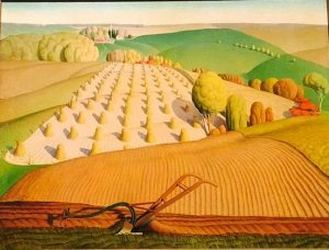 Grant Wood. Fall Plowing, 1931. John Deer Company Collection.