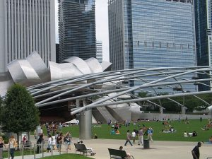 Jay Pritzker Pavilion in Millennium Park. Photo by Jodie Jacobs