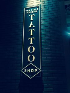 "The Field Tattoo Shop is part of the new ""Tattoo"" exhibition at the museum. Photo by Jodie Jacobs"