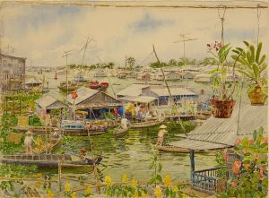 David Dallison, Home Boats Chau Doc, at Urban Edge in Waukgean