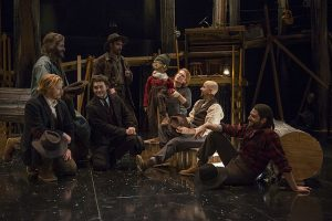 Cast of 'The Hunter and The Bear' at Writers theatre. Photo by Michael Brosilow