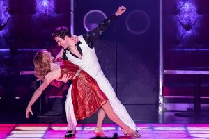 Erica Stephan (Stephanie Mangano and Adrian Anguilar (Tony) in Drury Lane's Saturday Night Fever Photo by Brett Beiner