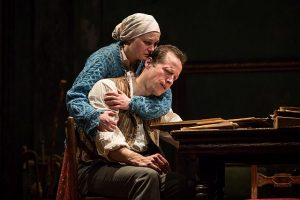 Caroline Neff (Sonya) and Tim Hopper (Vanya). Photo by Liz Lauren