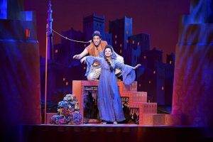 Adam Jacobs (Aladdin) and Isabelle McCalla (Jasmine). Photo by Deen van Meer