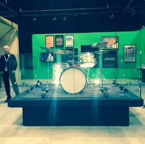 Rolling Stones instruments and more in Exhibitionism. Photo by Jodie Jacobs