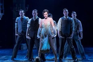 Alena Watters (Velman Kelly) and ensemble in 'Chicago' at Drury Lane Theatre, photo by Brett Beiner