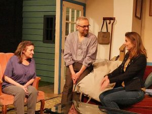 Ellen Phelps (sonia), Billy Minshall (Vanya) and Sisie Steinmeyer (Masha) at Citadel Theatre. Photo by North Shore Camera Club