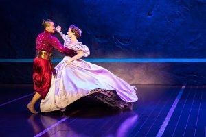 Jose Llana (King of Siam) and Laura Michelle Kelly (Anna Leonowens) in 'The King and I.'