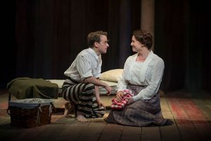 Patrick Andres and Brianna Borger in 'Parade' at writers theatre. Photo by Michael Brosilow