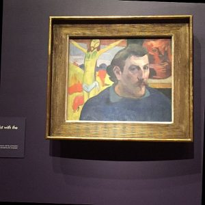 "Paul Gauguin, ""Self Image with Yellow Christ."" Photo by Jodie Jacobs"