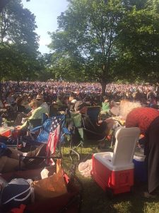 Ravinia Festival was jammed an hour before the Tchaikovsky Spectacular Sunday. Jodie Jacobs photos