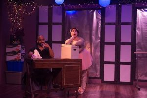 Martel Manning (James) and Ariana Sepulveda (Hope) in 'Still Dance the Stars' at Chicago Dramatists. Tom McGrath photo