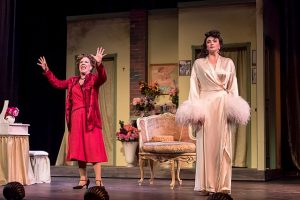 Mary Robin Roth (Rose) and Lexis Danca (Louise) in 'Gypsy' at Music Theater Works. p[hoto by Brett Beiner