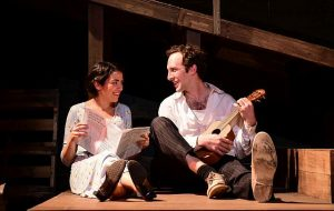 Desiree Gaonzalez (Bonnie) and Max De Togne (Clyde). Evan Hanover photo