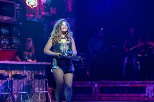 Cherry Torres (Sherrie) gets a job at the Bourbon Room in 'Rock of Ages.' Brett Beiner photo
