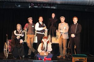 Cast of Flanagan's Wake, an interactive experience at Chicago Theater Works.