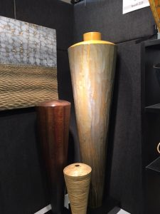 Works in wood by Michael Bauermeister, Augusta, MO, are among the popular objects available at the American Craft Exposition at the Chicago Botanic Garden Jacobs photo