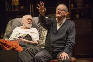 John Mahoney (Simon) l, and Francis Guinan (Henry) in 'The Rembrandt' at Steppenwolf.