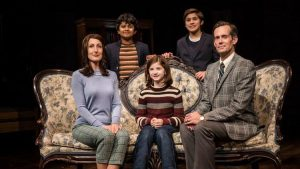 McKinley Carter, left, Preetish Chakraborty, Stella Rose Hoyt, Leo Gonzalez and Rob Lindley in 'Fun Home' at Victory Garden Theater. (Liz Lauren photo)