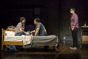 Hannahn Starr, L, Danielle Davis and Danni Smith in 'Fun Home' at Victory Gardens Theater. (Liz Lauren photo)