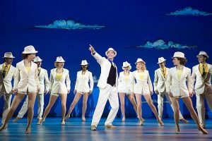 """Blue Skies"" is a fun, Fosse-style dance number in White Christmas. Photo: Jeremy Daniel"