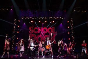Rob Colletti and cast in 'School of Rock the musical' at the Cadillac Palace Theatre. Matthew Murphy photo
