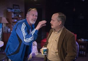 Frank Nall, Guy Van Swearingen in 'Traitor' at A Red Orchid Theatre. Michael Brosilow photo