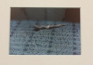 Video Drawings: Swimming, 1975, chromogenic development print from the Museum of contemporary Art Chicago Collection.