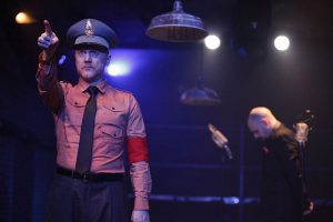 Simon Hedger, l, and Joe Bianco in Haven Theatre's production of 'Fear and Misery in the Third Reich. Photos by Emily Schwartz.