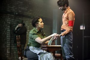 Alys Dickerson and Siddhartha Rajan with Amanda De La Guardia (back) in 'Fear and Misery in the Third Reich.
