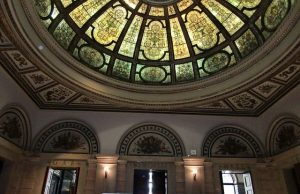 Find this amazing dome and room at the Chicago Cultural Center
