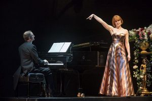 Pianist William Bllingham and Kate Baldwin in I Hate Music (but I love to sing).