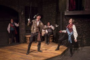 (From left) Kristin Hammargren, Michael B. Woods, Zach Livingston and Christina Gorman in 'Cyrano.