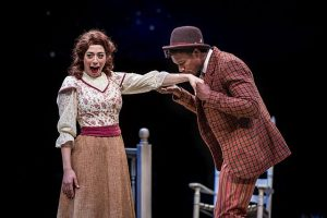 Michelle Lauto (Ado Annie) and Evan Tyrone Martin (Ali Hakim) in 'Oklahoma' at Marriott Theatre
