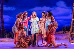Samatha Hill (Nellie), center, Rachel Osting, Erica Evans, Ashley Jane Lanyon, Kayla Boye, Allie Dandy Pizzo and Erica Stephan in 'South Pacific' at Drury Lane Theatre. (Brett Beiner photo)