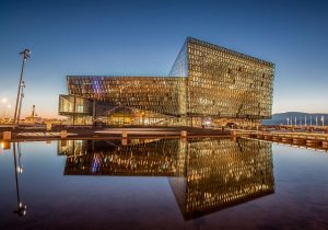 Harpa Concert Hall, an example of Iceland architecture. Iceland Design Centre photo