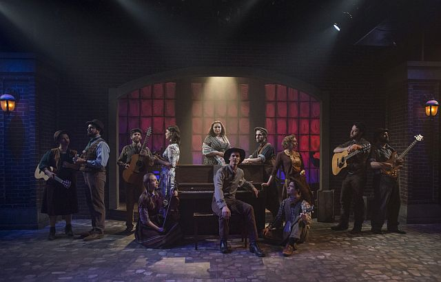 Cast of Hayarket, tUnderscore Theatre Company and The den Theatre's new musical. (Photo by Michael Brosilow)