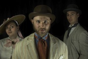 Laura Degrenia (Margaret Burnham), Pavi Proczko (Daniel Burnham) and Sam Massey (John Root) in Burnham's Dream