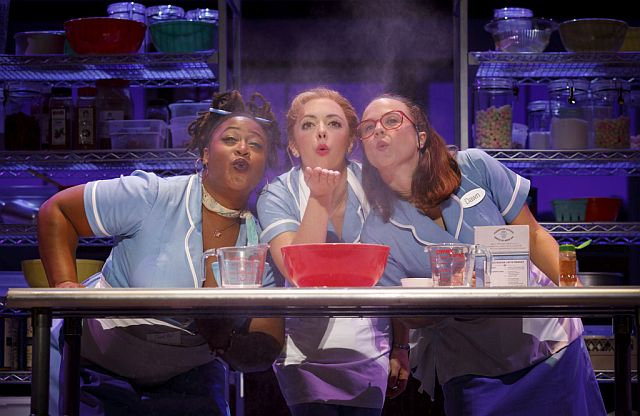 L to R, Charity Angel Dawson, Desi Oakley and Lenne Klingaman in the national tour of Waitress The Musical now at the Cadillac Palace Theatre, Chicago (Photos by Joan Marcus)