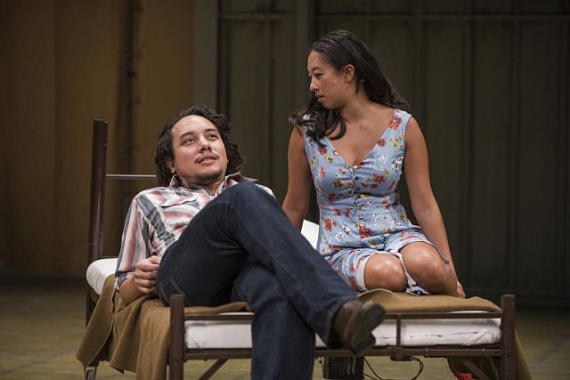 Matthew C. Yee and Aurora Adachi-Winter are the leads in 'Vietgone' at Writers Theatre, Glencoe. (Michael Brosilow Photo)