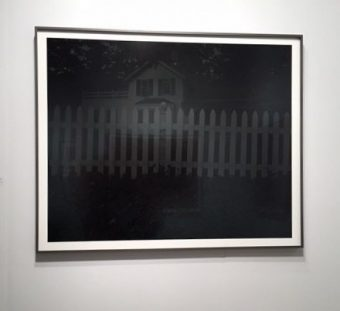 "Dawoud Bey, 2017 ""Night Coming Tenderly b;acl (Picket Fence and Farmhouse). (J Jacobs photo)"