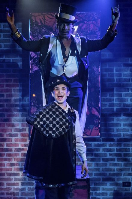 Donterrio Johnson (Leading Player) and Koray Tarhan (Pippin); (Photo by Brett Beiner)