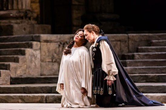 Janai Brugger and Angela Brower in Idomeneo at the Lyric Opera. (Kyle Flubacker photo)