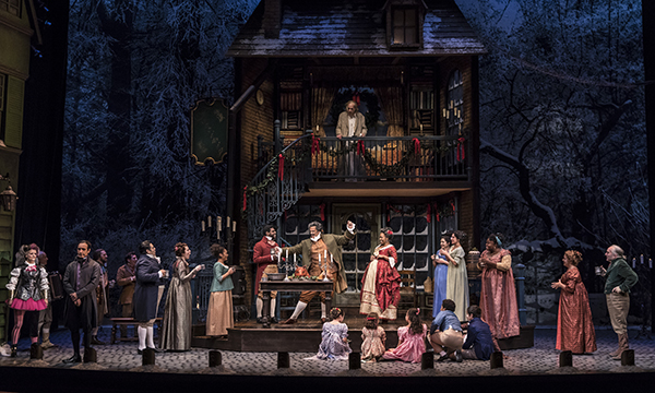 Cast of A Christmas Carol at Goodman theatre. (Photo by Liz Lauren)