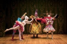 """The cast of """"The Steadfast Tin Soldier"""" at Lookingglass Theatre. (Photos by Liz Lauren)"""