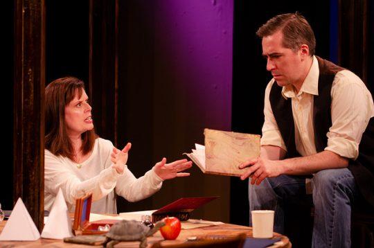 Cameron Feagin, Brendan Hutt in Arcadia at Promethean Theatre.