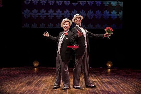 Singer Michael Mahler l and dancer Will Burton vie for the same girl in Holiday Inn.