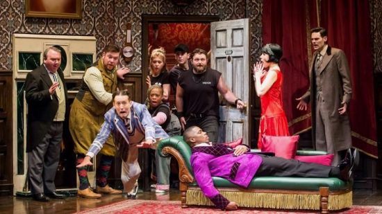 Cast of The Play That Goes Wrong. (Photo by Jeremy Daniel)