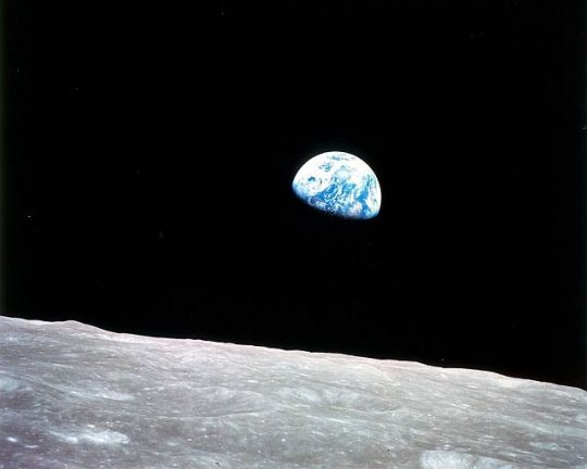 Earth Rising (Photo courtesy of NASA